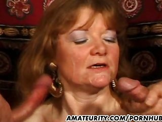 Mature amateur wife anal fuck with facial shots