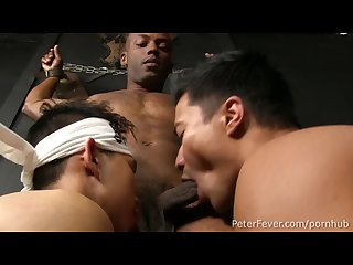 Super hot black and gaysian 3way fuck the black Panda episode1