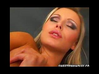 Leslie euro slut fingering her pierced pussy