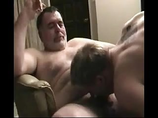 Daddy bear and his son fucking