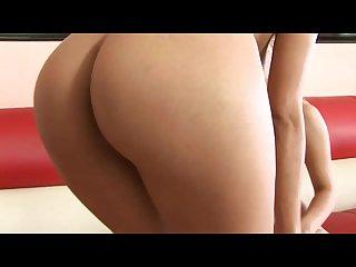 Blonde girl giving oral sex to horny brunette in lesbian scene