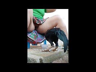Desi Bhabhi pussy flashing public