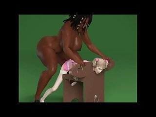Huge ass and tits dickgirl fucking bond slave 3d animation