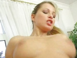 Big titty blonde creampied in office