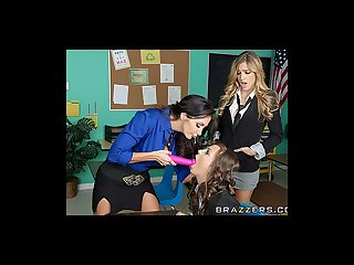 Brazzers sexy lesbian threesome at school
