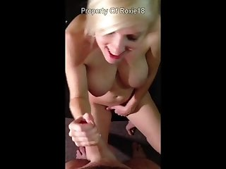 Future wife perfect natural tits iphone pov blowjob