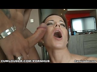 Cindy dollar looks lush giving a handjob