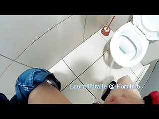 Naughty public pissing toilet piss school bathroom laura fatalle