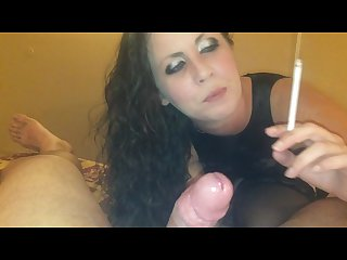 Girlfriend smoking 120s in pvc