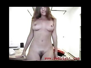 Amateur french girl on the desk