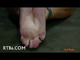 Foot torture submissive