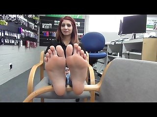 Marie shows her cute 18 year old latina feet