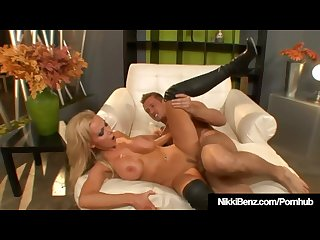 Penthouse Pet Nikki Benz Gives Messy Deepthroat & Rides Cock