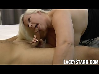 Laceystarr hooker gilf creampied by a fortunate customer