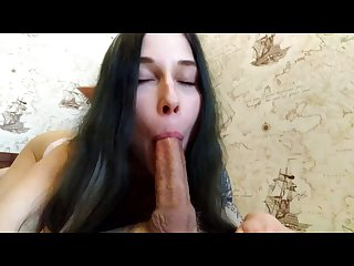 No Hands 69 Blowjob Cum in mouth of a cute Elf Runiel