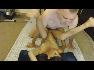 Homemade wife getting fucked on floor and takes a massive facial