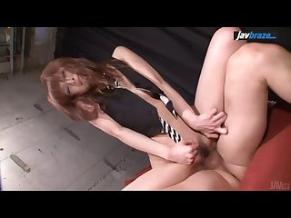 Misa kikouden hot asian blow job leads to threesome sex