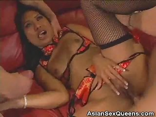 Dped and jizzed asian honey