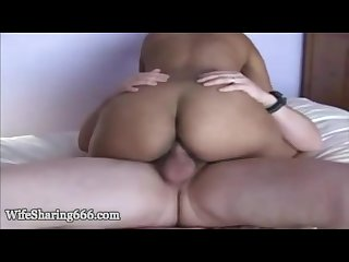 Indian hotwife fucking her lover in front of husband