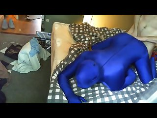 Kinky lycra zentai fucked by his mate