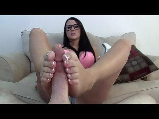 Nerdy alexis footjob blowjob for step brother