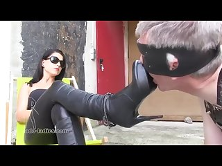 Lady chanel boot slave