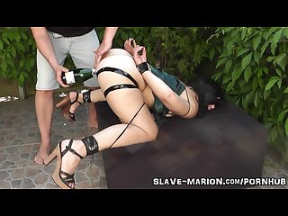 Real sex slave bondaged punished and gangbanged