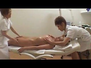 Japanese lesbians massage to western girl