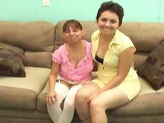 Mature mom and teenie teenager having sex