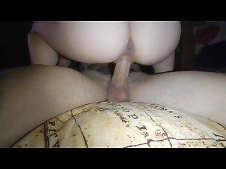 Slut rides violently