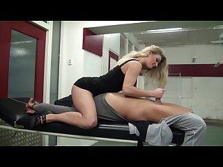 Blondie ally handjob bondage