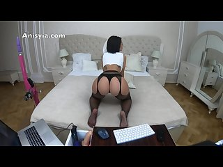 Anisyia Jasmin reverse cowgirl huge ass rides cock in 4k60fps