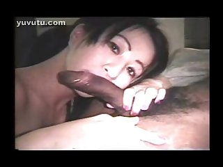 Black dick and a wet asian mouth