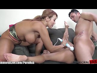 Immorallive latina milf teaching petite asian to fuck