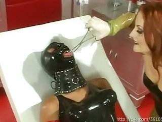 Latex femdoms foot worship