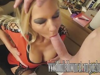 Dirty milf blondie queen of blowjobs and creamy facials