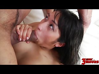 Mia li gives massage and ride hard cock