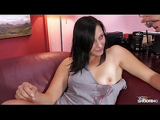 Fakeshooting young brunette listen exactly what agent says get fucked hard