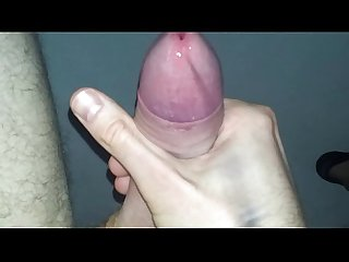 Self precum milking big cock