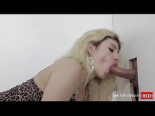 Patricia Kimberly sucking big dick and fucking hot in gloryhole