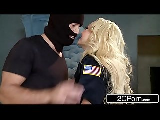 Police office summer brielle double teamed by two criminals
