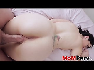 Big titted step mom Alessandra Snow bouncing on cock in POV