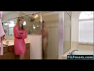 Daughter seduces step dad in the bathroom free stepdad family videos at filfmom com