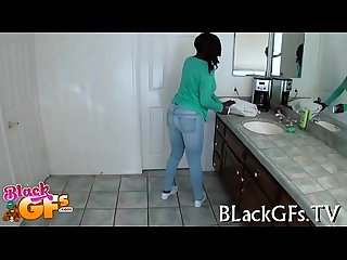Bbw chick gets black muff banged