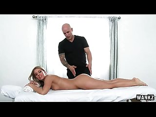 Bootie blessed Candice dare loves a naughty massage hd