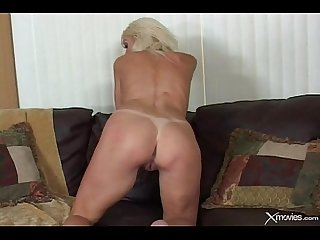 Jordan blue ugly blond girl gets a good creampie