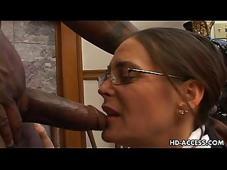 Experienced cheyenne hunter milks a bbc dry