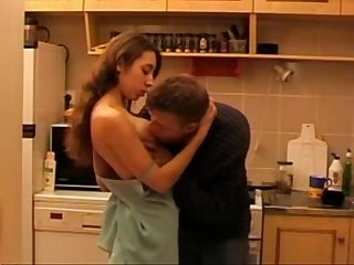 Daddys not daughter fucked in the kitchen video