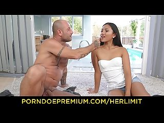 HER LIMIT - Petite Asian May Thai babe rough anal and mouth cumshot