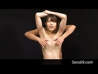 Japanese Teen gets a tit Massage